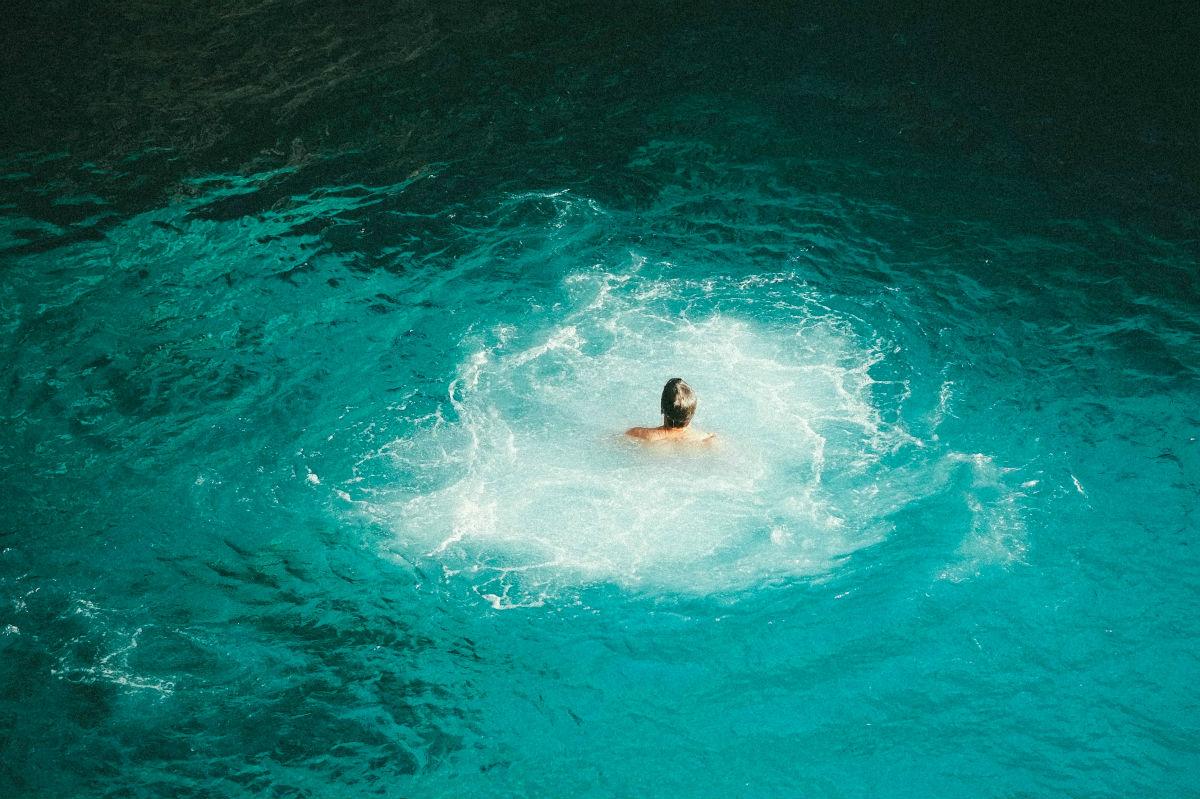 plavanje v morski vodi